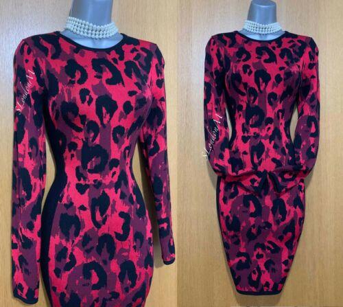 Karen Millen Leopard Print Knit Long Sleeve Winter