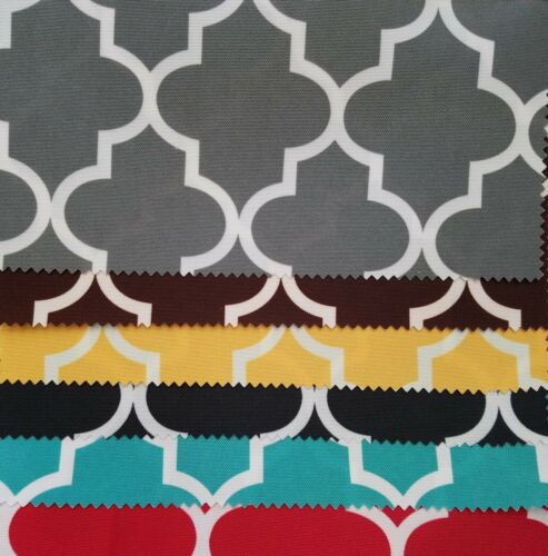 "60/"" Width Sold By The Yard Continues Moroccan Canvas Outdoor Waterproof Fabric"