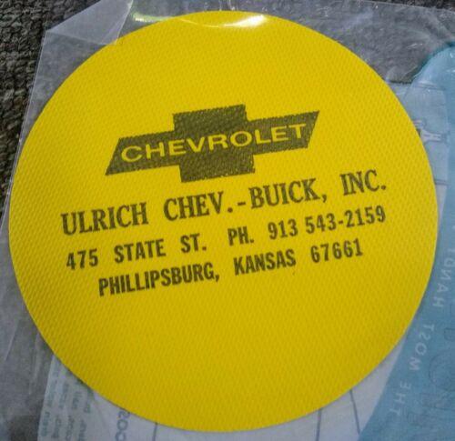 "Vintage CHEVROLET BUICK Dealership /""MIGHTY GRIP... MINT....Phillipsburg Kansas"