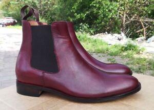Handmade burgundy boots for men, men
