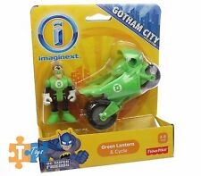 GREEN LANTERN & CYCLE Imaginext DC Gotham City Collection Action Figure Set NEW