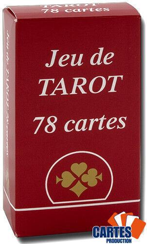 Jeu de 78 Cartes Tarot Gauloise France Carte Cartonnées Plastifiées 12x6x3 cm