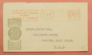 DR WHO 1940 GB METER SHOE ADVERTISING LEICESTER TO USA 118663