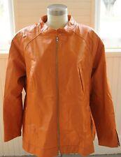 Beautiful Woman's Jessica London Soft Leather Jacket Coat 3X Plus Size 26 MINT