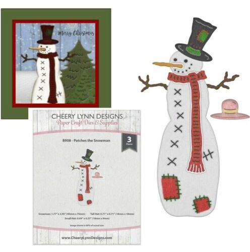 Patches the Snowman Metal Die Cut Christmas Cheery Lynn Cutting Dies Winter B908