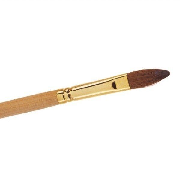 The Edge Size 10 Kolinsky Sable Oval Brush - Acrylic Nail Art | eBay