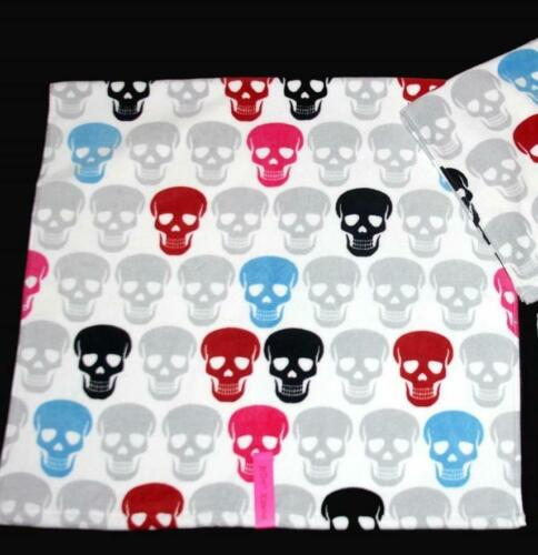 Betsey Johnson SKULL PARTY Red Black Grey Blue Pink Velour Bath Towel NWT DISC