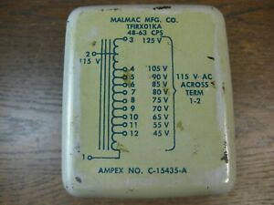 AC-Line-Voltage-Adjusting-Autoformer-Potted-Removed-from-Ampex-Equipment