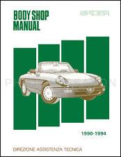 Alfa Romeo Spider Body Shop Manual 1991 1992 1993 1994 Veloce Graduate Quadrifog
