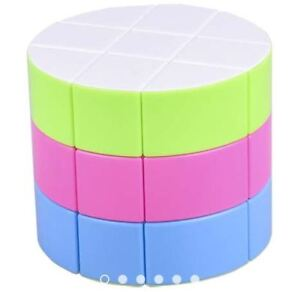 Magic-Cube-Cylinder-Pie-Twist-3x3x3-Rubik-039-s-Cube-Stickerless