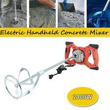 2100w Electric Concrete Cement Mixer Handheld Plaster Grout Paint Mortar Stirrer