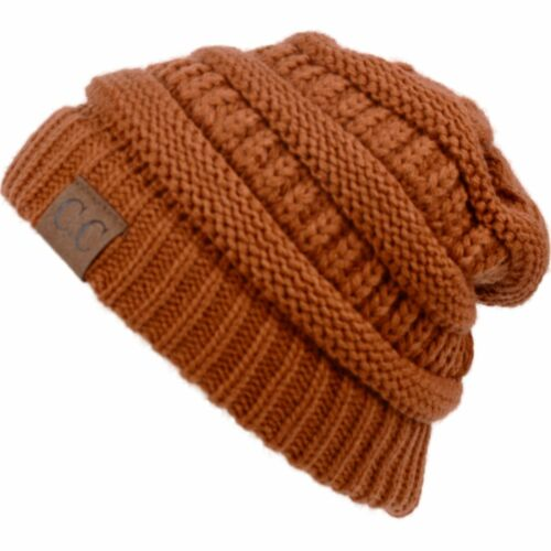 Men Women Plain CC Beanie Cap Slouch Bubble Knit Gifts Baggy Winter Ski Hat
