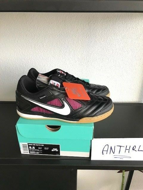 supreme x nike gato sb Noir taille ds fw18 us fw18 ds 100% authentique basket 598f81