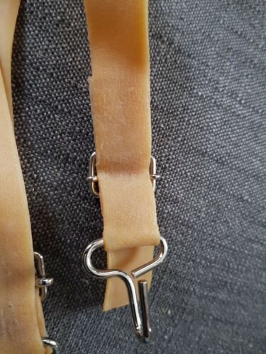 Fishing wader straps for thigh wadders 2 rubber straps with metal hooks NEW