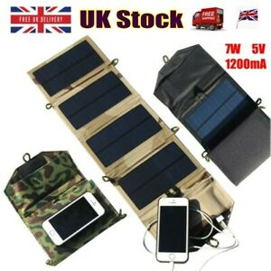 Portable-Solar-Charger-For-iPhone-Phone-7W-Solar-Charging-Panel-USB-Port-Camp