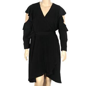1a5e6b7dc4259 Image is loading Eloquii-Black-Wrap-Dress-Size-22