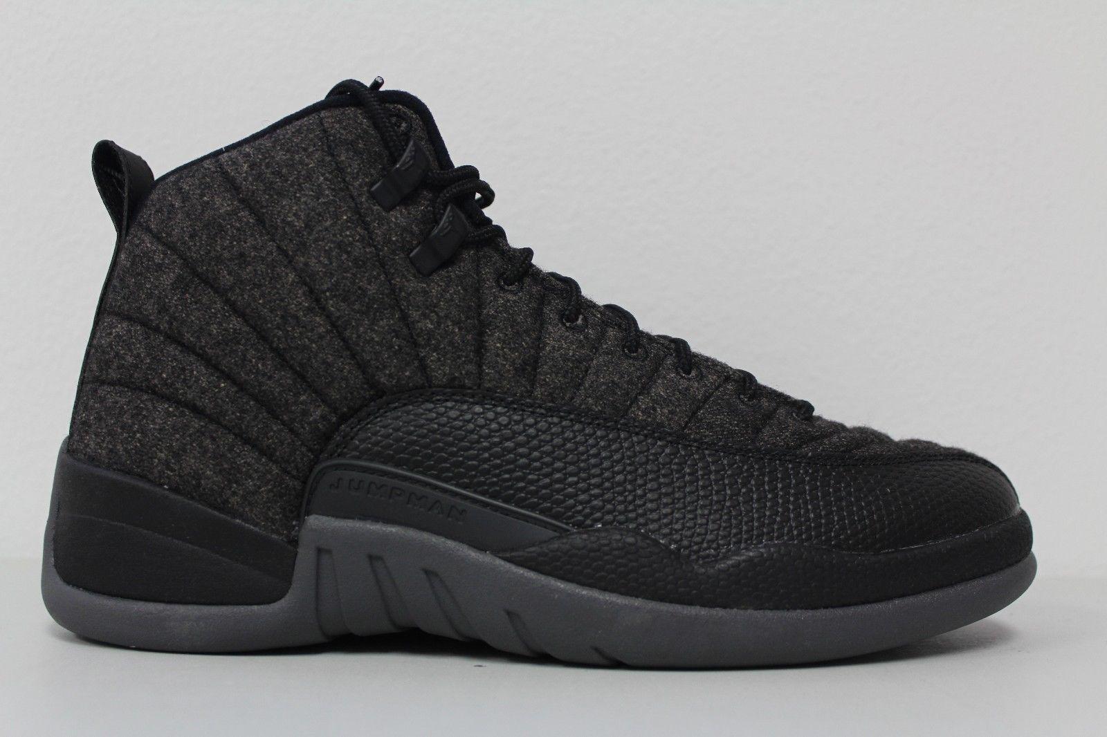 Nike Air Jordan 12 Retro Wool (852627-003) Men's shoes - Dark...