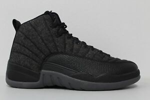 1f6d881944a8e0 Nike Air Jordan 12 Retro Wool (852627-003) Men s Shoes - Dark  Grey Black Metallic Silver
