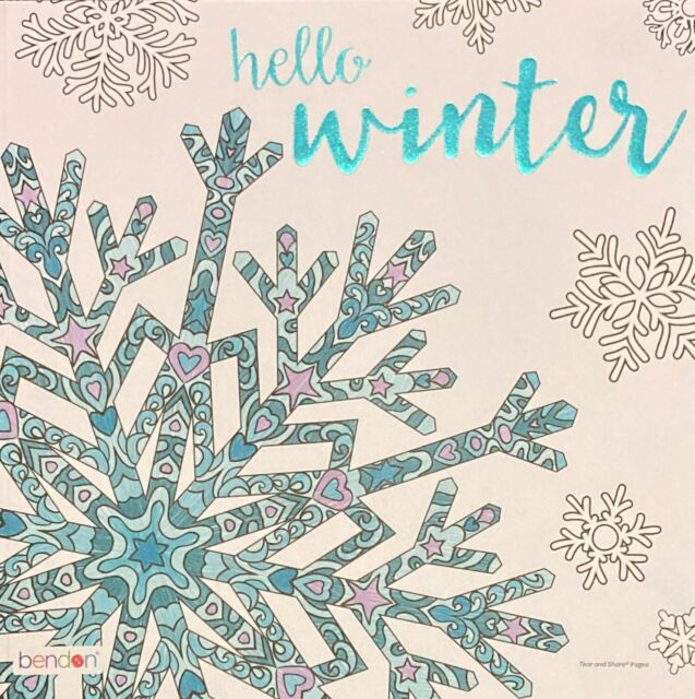 Adult Advanced Coloring Books Hello Winter Bendon Christmas Gift For Sale  Online