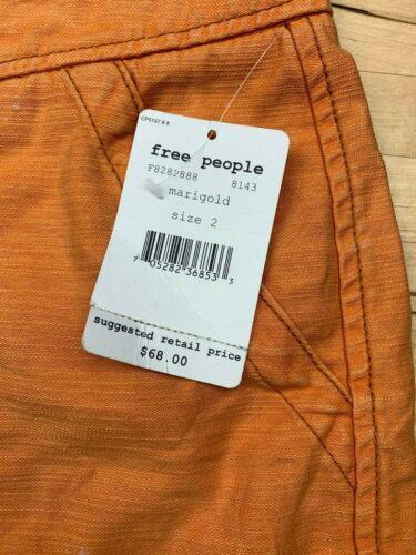 2 Katoenen Oranje Nwt Free Shorts Cargo People maat Z1wqtaq0F