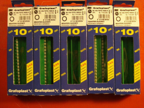 3M GRAFOPLAST BL117MOOBW Letter O Wire Markers Black//White Qty 50