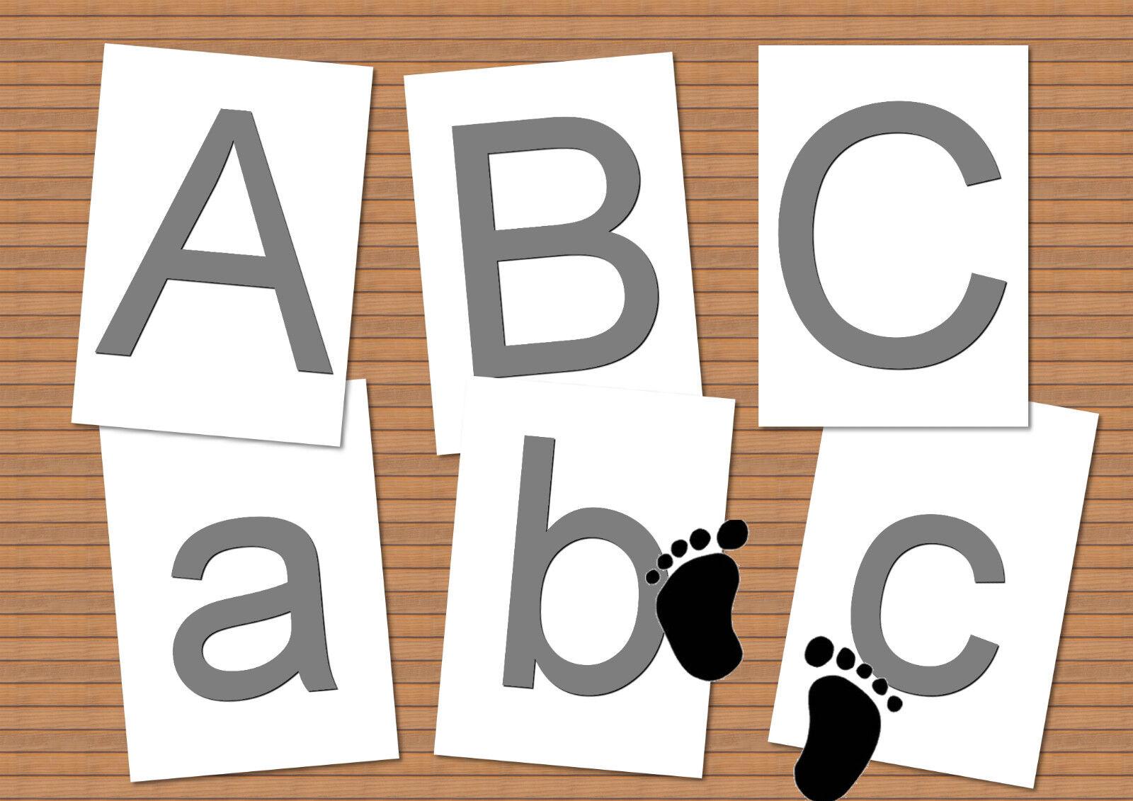Buchstaben Karten ABC Schreiben Schreiben Schreiben Lesen Lernen Gruppenarbeit Kinder Erwachsene A4 8ab57b