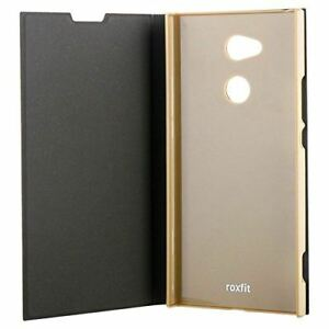 Nouveau-ROXFIT-officielles-SONY-XPERIA-XA2-Ultra-book-case-stand-fonction-or-noir