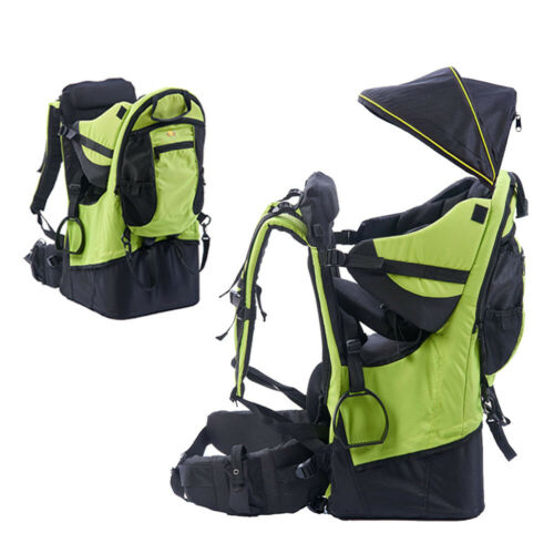 Baby toddler Hiking Backpack Carrier w// Stand Child Kid Sun//Rain canopy Shield
