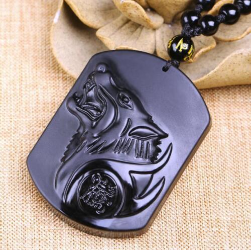 Wholesale Faddish Obsidian Necklace Pendant 18inch set Chinese Jewelry Men/'s