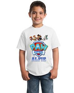Paw-Patrol-Logotipo-Personalizado-Camiseta-Para-Ninos-Ninos-Camiseta-como-el-nombre