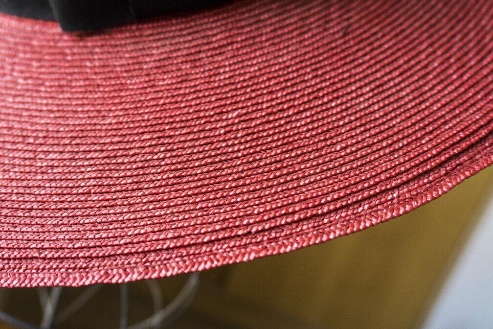 Bonwit Teller - Vintage  Straw Summer Hat - Wide … - image 2