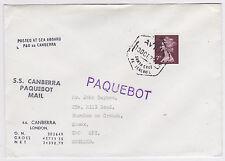 1978 SANTA CRUZ DE TENERIFE PAQUEBOT SS CANBERRA COVER- GB QE2 7P