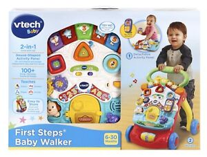 NEW-VTECH-BABY-INFANT-TOY-FIRST-STEPS-2-IN-1-BABY-WALKER-ACTIVITY-CENTRE-505603