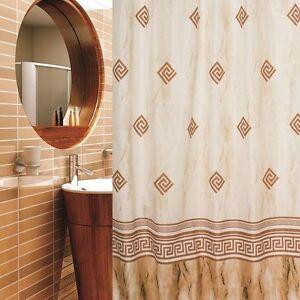 Dettagli su Tenda Doccia in Tessuto 180x180 cm Coloniale Beige Braun Design  Incl. Anelli