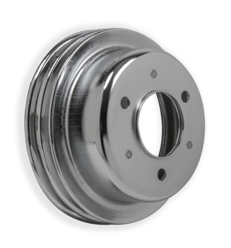Mr Gasket 8830MRG Crankshaft Pulley Dou... Ford Small Block 1965-66- Chrome