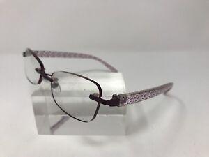 836c0360938 Foster Grant PD64 LO0513 Daniella Eyeglasses 52-18-138 Purple E843 ...