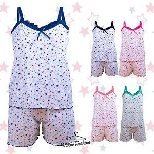 Diligent Femmes Pyjama Set Sans Manches Et Short 6 * 8 * 10 * 12 * 14 Bc324-afficher Le Titre D'origine Par Processus Scientifique