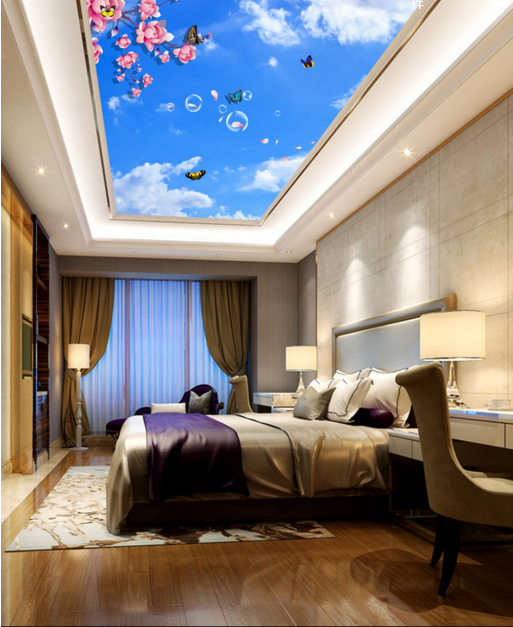 3D Sky Butterfly 743 Ceiling WallPaper Murals Wall Print Decal Deco AJ WALLPAPER
