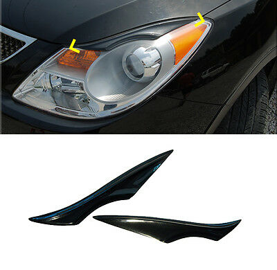 Eyelid Headlight Point Eyebrow Choice Color 2p For 07-13 Hyundai ix55 : Veracruz