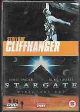 CLIFFHANGER & STARGATE 2 ON 1 GENUINE R2 DVD STALLONE/RUSSELL NEW/SEALED