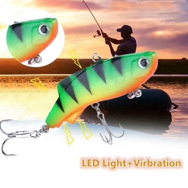 VIB Ice Fishing Lure Soft Lead Bait 7.5Cm Artificial Winter Bait Tackle Fis M5B3