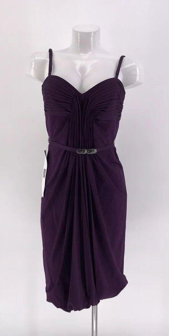 LAUNDRY SHELLI SEGAL DRESS Sleeveless Purple Lined Size 10