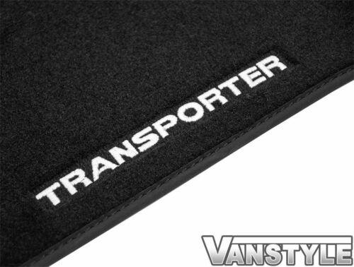 GENUINE VW LOGO OE TRANSPORTER T5 10-15 1Pc FRONT TAILORED CARPET MAT 1+2 RHD