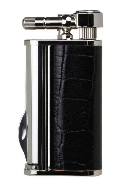 Tsubota Pearl EDDIE Crocodile Black Pipe Lighter with Tools, Seki Japan Old Boy☦