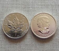 Canada 5 dollari 2010 Maple Leaf 1oz ARGENTO 1 Oncia 9999 fine SILVER * in capsula *