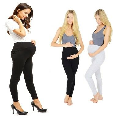New Thick Comfortable Maternity Cotton Leggings Full Length Pregnancy V1 Matrlg Noch Nicht VulgäR