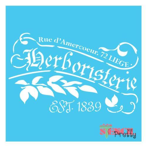 French Herboristerie stencil