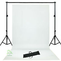 Photo Lighting Studio  White Backdrop Background Support Stand Kit  New UK