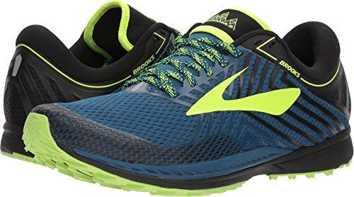 b99e6b9f738 Brooks Mens Mazama 2 Trail Running Shoes Blue Neon Green US Size 9.5 D for  sale online