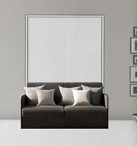 Letto a scomparsa matrimoniale con divano ebay for Letto a scomparsa con divano